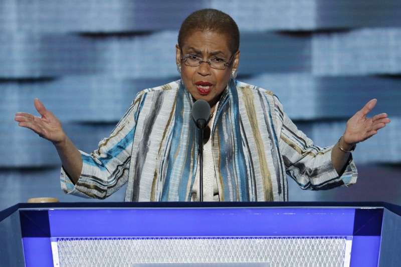 Rep. Eleanor Holmes Norton (D-DC) at the DNC. CREDIT: AP Photo/J. Scott Applewhite