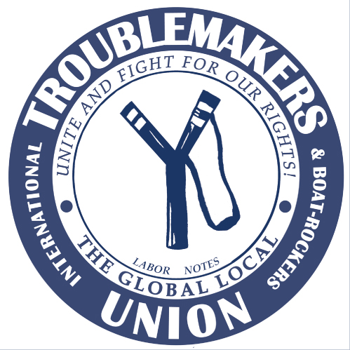 Troublemakers logo-blue